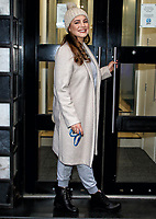 Kelly Brook arriving at Global Radio studios in Leicester Square, London on Thursday January 21st 2021<br /> <br /> Photo by Keith Mayhew