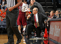 Nov 6, 2010; Charlottesville, VA, USA; Roanoke College head coach Page Moir Saturday afternoon in exhibition action at John Paul Jones Arena. The Virginia men's basketball team recorded an 82-50 victory over Roanoke College.