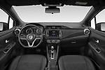 Stock photo of straight dashboard view of 2021 Nissan Micra N-Sport 5 Door Hatchback Dashboard