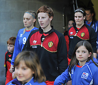 Qualification Women's Euro 2013 - Belgium - Iceland ; Belgie - Ijsland ; Armand Melis Stadion Dessel :.Lien Mermans.foto DAVID CATRY / Vrouwenteam.be