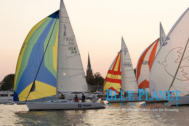 Spa Creek, Annapolis MD, Wednesday evening sailing regatta