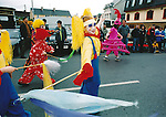 Adding a touch of colour to the Fleadh Nua parade - June 4, 1999. Photograph by John Kelly