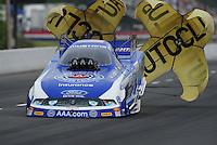 May 13, 2011; Commerce, GA, USA: NHRA funny car driver Robert Hight during qualifying for the Southern Nationals at Atlanta Dragway. Mandatory Credit: Mark J. Rebilas-