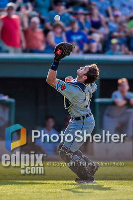 20 August 2017: Connecticut Tigers catcher Joey Morgan, a 3rd round draft pick for the Detroit Tigers, in action against the Vermont Lake Monsters at Centennial Field in Burlington, Vermont. The Lake Monsters rallied to edge out the Tigers 6-5 in 13 innings of NY Penn League action.  Mandatory Credit: Ed Wolfstein Photo *** RAW (NEF) Image File Available ***