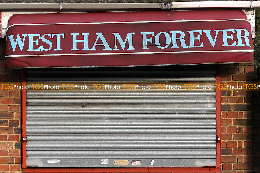 West Ham Forever tea bar ahead of West Ham United Ladies vs Tottenham Hotspur Ladies, FA Women's Premier League Football at the Boleyn Ground, Upton Park