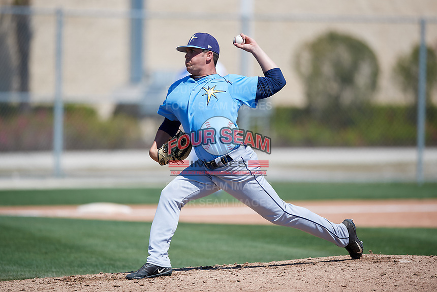 Tampa Bay Rays pitcher Blake Pflughaupt (40) during a Minor League Spring Training game against the Minnesota Twins on March 15, 2018 at CenturyLink Sports Complex in Fort Myers, Florida.  (Mike Janes/Four Seam Images)