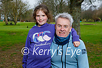 Sadie Walsh with her dad Chris Walsh enjoying the Listowel town park on Saturday.