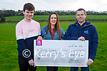 Barry Leen who won the €19,100 Crotta GAA Lotto, received his cheque on Saturday. L to r: Gavin and Joanne O'Hanlon and Barry Lean