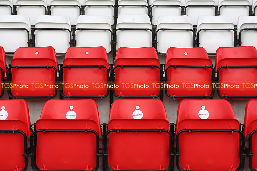 Empty seats in the ground during Stevenage vs Swansea City, Emirates FA Cup Football at the Lamex Stadium on 9th January 2021