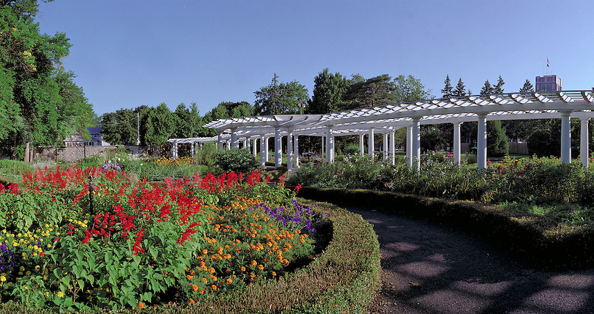 Sonnenberg Mansion - English Garden. Canandaigua New York United States Finger Lakes.