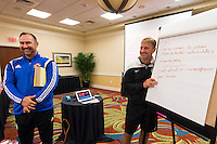 Orlando, FL - Friday Oct. 14, 2016:   Candidates during a US Soccer Coaching Clinic in Orlando, Florida.