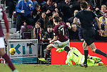 Jamie Walker scores the fourth goal for Hearts