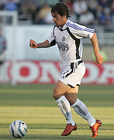 Luchi Gonzalez dribbles the ball. The San Jose Earthquakes defeated the Colorado Rapids 1-0 at Spartan Stadium in San Jose, CA on June 29, 2005.