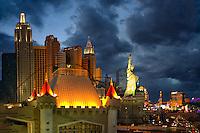 Las Vegas skyline.at night. Nevada