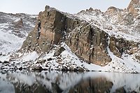 Ship's Prow and Chasm Lake, Long's Peak, Rocky Mountain National Park