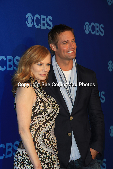 Marg Helgenberger and Josh Holloway at the CBS Upfront on May 15, 2013 at Lincoln Center, New York City, New York. (Photo by Sue Coflin/Max Photos)