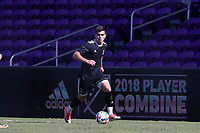 Orlando, Florida - Wednesday January 17, 2018: Brian White. Match Day 3 of the 2018 adidas MLS Player Combine was held Orlando City Stadium.