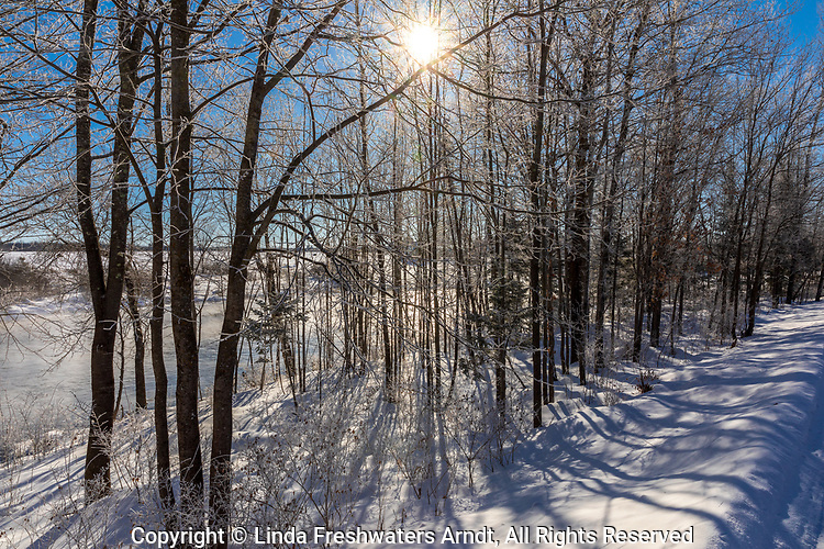 The warmth of the sun on a frigid February morning in northern Wisconsin.