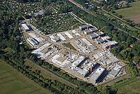 Gleisdreieck Asylanten Wohnungsbau  : EUROPA, DEUTSCHLAND, HAMBURG 15.09.2016: im Bau befindliches Wohngebiet Gleisdreieck Mittlerer Landweg