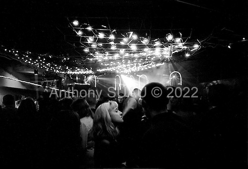 Kirov, Russia  .March 1999.Young kids come to the nightclub ?? Zapretnaya Zona??and enter for $1..