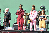 NEW YORK, NY- SEPTEMBER 25: Cyndi Lauper, Billy Porter, Jon Batiste and Alessia Cara at the 2021 Global Citizen Live Festival at the Great Lawn in Central Park, New York City on September 25, 2021. Credit: John Palmer/MediaPunch