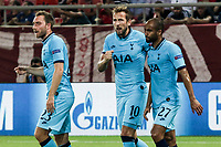 Harry Kane of Tottenham Hotspur celebrates his goal during the UEFA Champions League match between Olympiacos Fc and Tottenham Hotspur, in Karaiskaki Stadium in Piraeus, Greece. Wednesday 18 September 2019