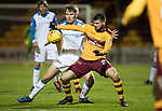 Motherwell v St Johnstone…06.02.18…  Fir Park…  SPFL<br />Nadir Ciftci holds off Jason Kerr<br />Picture by Graeme Hart. <br />Copyright Perthshire Picture Agency<br />Tel: 01738 623350  Mobile: 07990 594431