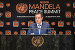 Opening Plenary Meeting of the Nelson Mandela Peace Summit<br /> <br /> Serbia FM