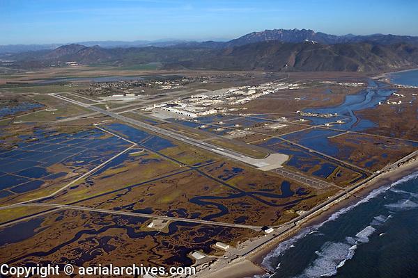 aerial photograph of Point Mugu Naval Air Station, Ventura County, California