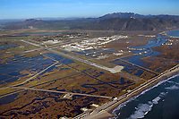 aerial photograph of Point Mugu Naval Air Station, Ventura County, California