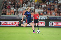 HOUSTON, TX - JUNE 13: Lindsey Horan #9 of the United States score a PK goal and celebrates during a game between Jamaica and USWNT at BBVA Stadium on June 13, 2021 in Houston, Texas.