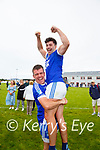 Mark Quigley & Jack Daly(c) celebrate after their South Kerry Championship win over Piarsaigh na Dromoda on Sunday.