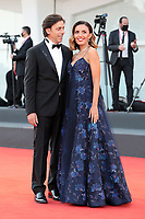 VENICE, ITALY - SEPTEMBER 11: Davide Devenuto and Patroness of the festival Serena Rossi attend the closing ceremony red carpet during the 78th Venice International Film Festival on September 11, 2021 in Venice, Italy. <br /> CAP/MPI/AF<br /> ©AF/MPI/Capital Pictures