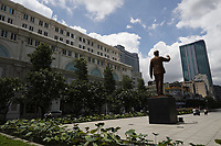Ho-Chi-Minh Plaza and City hall in city district 1