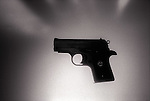 Side view of pistol