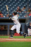Akron RubberDucks Mitch Longo (30) at bat during an Eastern League game against the Reading Fightin Phils on June 4, 2019 at Canal Park in Akron, Ohio.  Akron defeated Reading 8-5.  (Mike Janes/Four Seam Images)