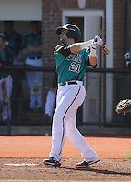 Coastal Carolina Chanticleers infielder Rich Witten #21 at bat during a game against the University of Virginia Cavaliers at Watson Stadium at Vrooman Field on February 18, 2012 in Conway, SC.  Virginia defeated Coastal Carolina 9-3. (Robert Gurganus/Four Seam Images)
