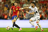 Spain's Saul Niguez (l) and Albania's Armando Sadiku during FIFA World Cup 2018 Qualifying Round match. October 6,2017.(ALTERPHOTOS/Acero) /NortePhoto.com /NortePhoto.com
