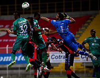 BOGOTA - COLOMBIA, 21-10-2020: La Equidad y Cucuta Deportivo, durante partido de la 3ra ronda clasificacion ida por la Copa BetPlay DIMAYOR 2020 en el estadio Metropolitano de Techo de la ciudad de Bogota. / La Equidad and Cucuta Deportivo, during a match 3rd round qualifying first leg for the BetPlay DIMAYOR Cup 2020 at the Metropolitano de Techo stadium in Bogota city. / Photo: VizzorImage / Samuel Norato / Cont.