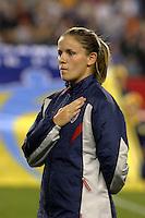 Cat Reddick, USA vs. Norway, in Boston, Ma, 2003 WWC.