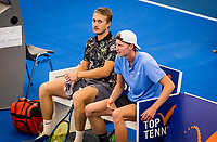 Amstelveen, Netherlands, 16  December, 2020, National Tennis Center, NTC, NK Indoor, National  Indoor Tennis Championships,  Doubles :   Gijs Brouwer (NED) (R) and<br /> Jelle Sels (NED) <br /> Photo: Henk Koster/tennisimages.com