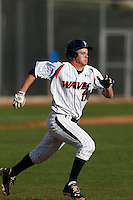 Cody Nulph #11 of the Pepperdine Waves runs the bases against the Seton Hall Pirates at Eddy D. Field Stadium on March 8, 2013 in Malibu, California. (Larry Goren/Four Seam Images)