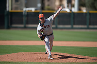 San Francisco Giants relief pitcher Seth Corry (28) delivers a pitch to the plate during a Minor League Spring Training game against the Cleveland Indians at the San Francisco Giants Training Complex on March 14, 2018 in Scottsdale, Arizona. (Zachary Lucy/Four Seam Images)