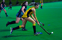 Action from the girls' premier two Wellington Hockey match between Wellington Girls College 2 and Hutt Valley High School at National Hockey Stadium in Wellington, New Zealand on Friday, 7 August 2020. Photo: Dave Lintott / lintottphoto.co.nz