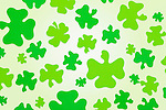 Green shamrock pattern
