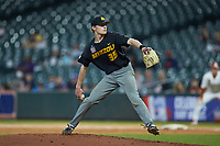 Missouri Tigers starting pitcher Spencer Miles (35) in action against the Texas Longhorns in game eight of the 2020 Shriners Hospitals for Children College Classic at Minute Maid Park on March 1, 2020 in Houston, Texas. The Tigers defeated the Longhorns 9-8. (Brian Westerholt/Four Seam Images)