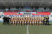 CAI vs RBAI | Tuesday 3rd March 2015<br /> <br /> Royal Belfast Academical Institution squad for the 2015 Ulster Schools Cup Semi-Final between Coleraine Inst and RBAI at the Kingspan Stadium, Ravenhill Park, Belfast, Northern Ireland.<br /> <br /> Picture credit: John Dickson / DICKSONDIGITAL