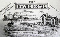 BNPS.co.uk (01202 558833)<br /> Pic: BNPS<br /> <br /> Pictured: An advertisement for the Haven Hotel published in 1896.<br /> <br /> Over 6,200 letters of objection have been lodged against controversial plans to replace a historic hotel with a 'soulless' block of flats at a millionaire's playground.<br /> <br /> The well-heeled residents of Sandbanks are up in arms about the £250million development which would see the Haven Hotel at the entrance to Poole Harbour in Dorset bulldozed.<br /> <br /> The 141-year-old building is where engineer Guglielmo Marconi established the world's first wireless communications. Under the plans, it would be replaced with a six-storey block of 119 luxury apartments.