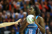 Steel's Jhaniele Fowler against the Mystics in the ANZ Championship Netball match, Stadium Southland Velodrome, Invercargill, New Zealand, Monday, April 29, 2013. Credit:NINZ/Dianne Manson