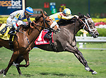 HALLANDALE BEACH, FL - MARCH 04: DREAM DANCING, #1, ridden by Julien Leparoux, wins the 30th running of The Herecomesthebride (Grade III) at Gulfstream Park Race Course on March 4, 2017 in Hallandale Beach, Florida. (Photo by Samantha Bussanich/Eclipse Sportswire/Getty Images)